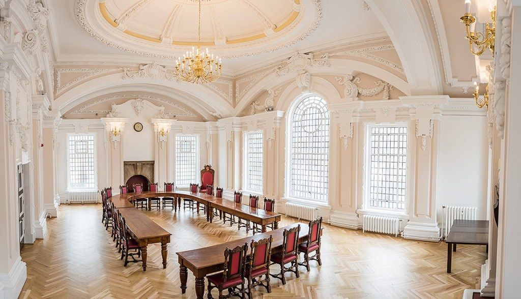 architectural photography of interior of Stoke town hall
