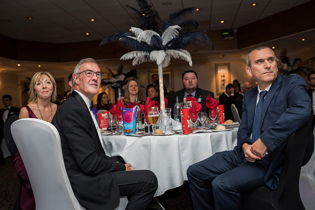 top table of VIP guests at the 2018 Altrincham and Sale Chamber of Commerce business awards event