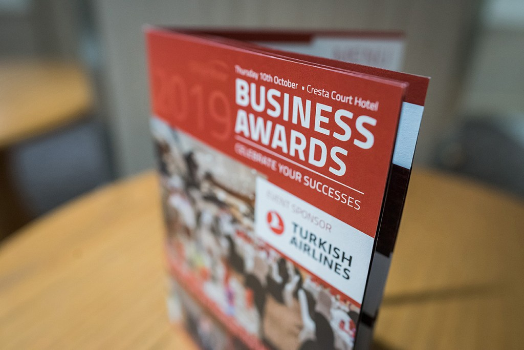 altrincham chamber business awards 2020 front cover of program