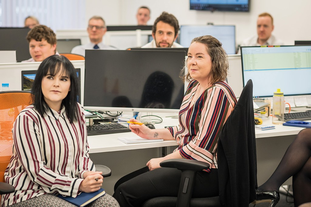 staff in call centre of local business