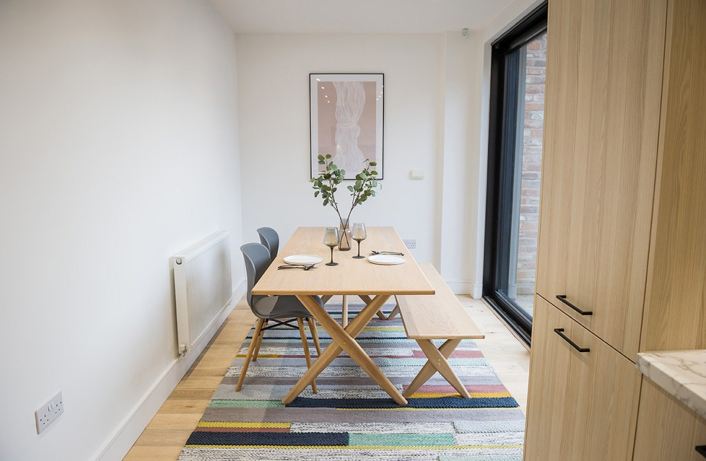 marketing photo of dining area on show home