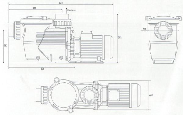 Certikin Hydrostar Commercial Swimming Pool Pump