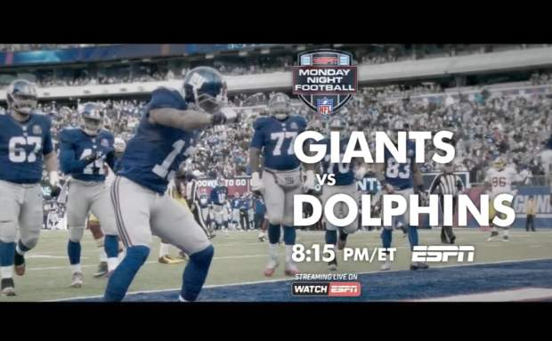 Giants vs. Dolphins | ESPN Monday Night Football Commercial Song