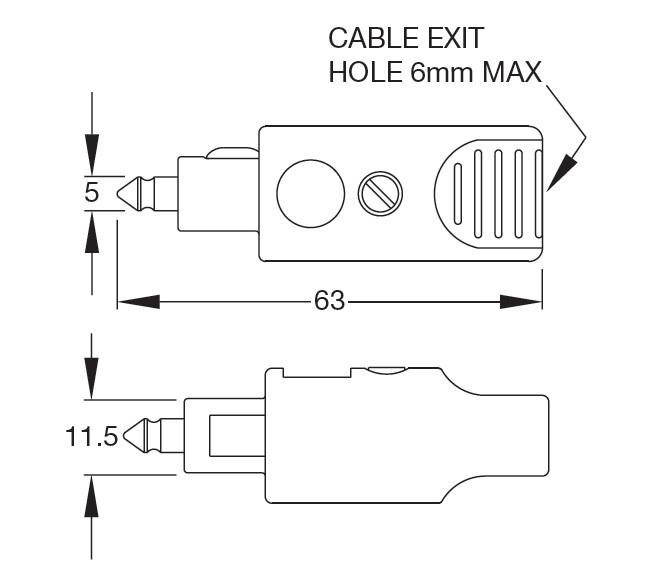 Britax single pole plug