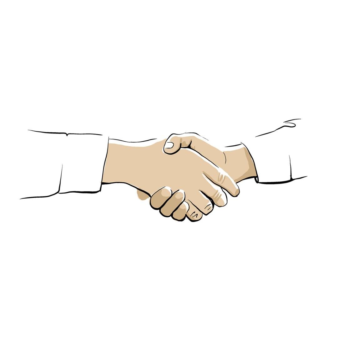 Hände Referenzen Partnerschaft commma