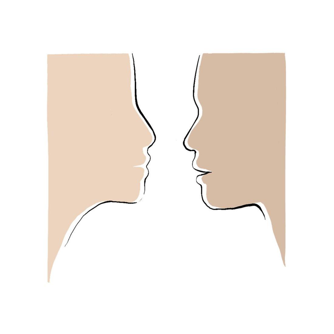 Begegnung Gesichter menschliche Begegnung