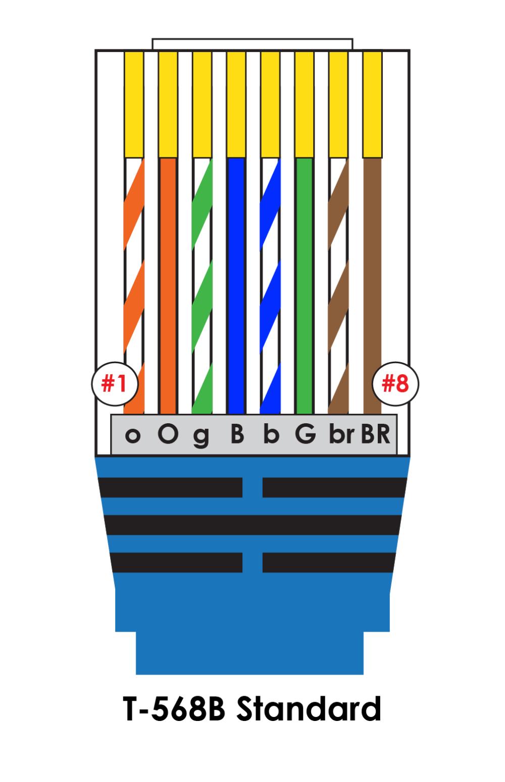medium resolution of iec t568b pin out