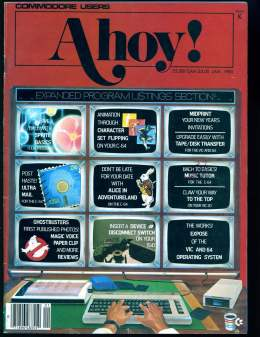Ahoy! Issue 13 - January 1985 - Commodore Vic 20 & C64