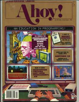 Ahoy! Issue 27 - March 1986 - Education - Programming -  Vic 20 & C64 128 Amiga