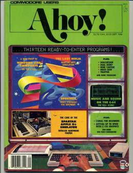 Ahoy! Issue 33 - September 1986 - Apple 18+ - Spartan - Commodore Vic 20 & C64 128 Amiga