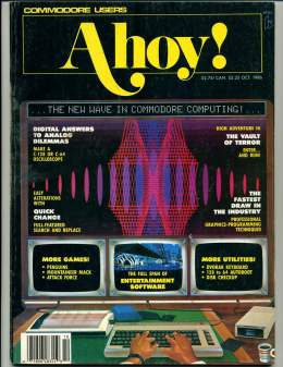 Ahoy! Issue 34 - October 1986 - Digital to Analog - Commodore Vic 20 & C64 128 Amiga