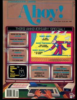 Ahoy! Issue 37 - January 1987 - Commodore Vic 20 & C64 128 Amiga