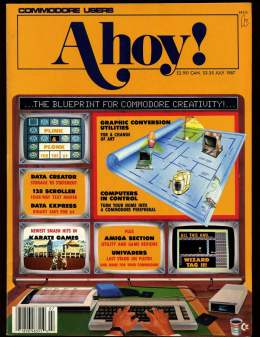 Ahoy! Issue 43 - July 1987 - Karate Games - Commodore Vic 20 & C64 128 Amiga
