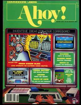 Ahoy! Issue 44 - August 1987 - SteepleChase - Commodore Vic 20 & C64 128 Amiga