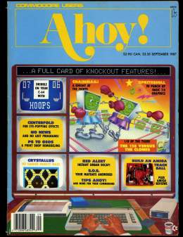 Ahoy! Issue 45 - September 1987 - Knockout - Build an Amiga - Commodore Vic 20 & C64 128 Amiga
