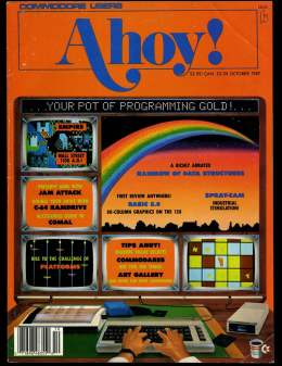 Ahoy! Issue 46 - October 1987 - Programming - C64 Jam Attack -  Commodore Vic 20 & C64 128 Amiga