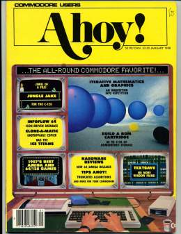 Ahoy! Issue 49 - January 1988 - Commodore Vic 20 & C64 128 Amiga