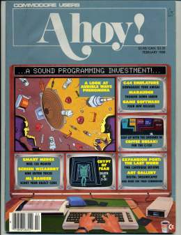 Ahoy! Issue 50 - Feburary 1988 - Commodore Vic 20 & C64 128 Amiga