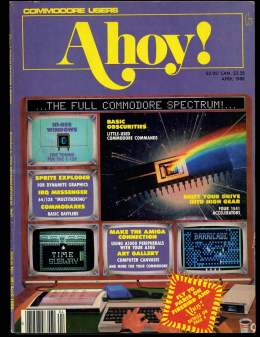 Ahoy! Issue 52 - April 1988 - Sprites - Commodore Vic 20 & C64 128 Amiga