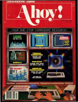 Ahoy! Issue 55 - July 1988 - Commodore Vic 20 & C64 128 Amiga