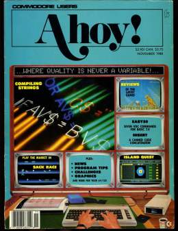 Ahoy! Issue 59 - November 1988 - Commodore Vic 20 & C64 128 Amiga