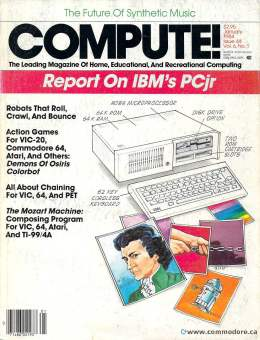 Compute! Magazine Issue #44 - January 1984 Commodore - IBM PC jr