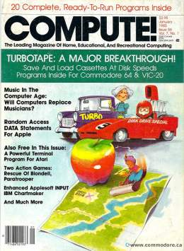 Compute! Magazine Issue #56 - January 1985