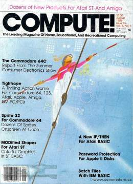 Compute! Magazine Issue #75 - August 1986
