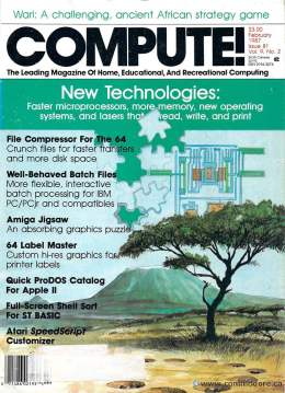 Compute! Magazine Issue #81 - February 1987