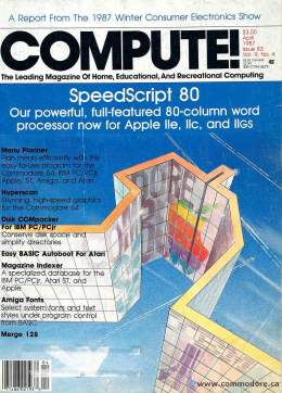 Compute! Magazine Issue #83 - April 1987 SpeedScript 80 Apple IIe IIc IIgs