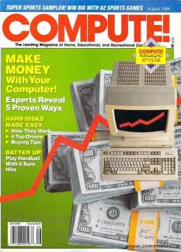 Compute! Magazine Issue #111 - August 1989 - Commodore 128 - 64 - IBM PS1 - Apple II - Amiga - Atari