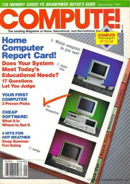 Compute! Magazine Issue #112 - September 1989 - Commodore 128 - 64 - IBM PS1 - Apple II - Amiga - Atari - Education