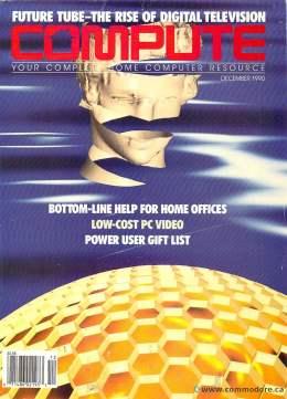 Compute! Magazine Issue #124 - December 1990 - Commodore 128 - Amiga - IBM PS1 - Apple - Amiga - PC Video