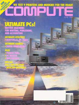 Compute! Magazine Issue #141 - June 1992 - Printer Modems Norton Windows 3.1 Commodore Apple Lotus 123 Excel Microsoft Windows 2.0