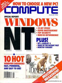 Compute! Magazine Issue #155 - August 1993 - Windows NT HP Laserjet 4 Multitasking Commodore Apple Microsoft IBM