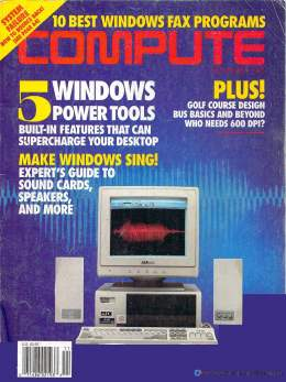Compute! Magazine Issue #158 - November 1993 - Windows Power Tools 600DPI Speakers Commodore Apple Microsoft IBM