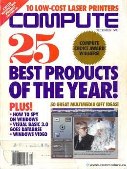 Compute! Magazine Issue #159 - December 1993 - Windows Power Tools 600DPI Speakers Commodore Apple Microsoft IBM