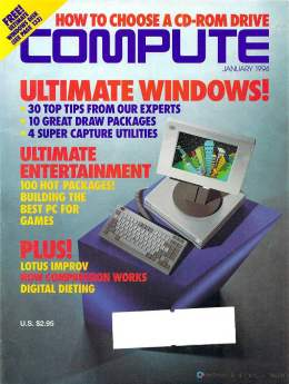 Compute! Magazine Issue #160 - January 1994 - Ultimate Windows Tips Games Lotus Improv Commodore Apple Microsoft IBM