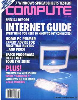 Compute! Magazine Issue #166 - July 1994 - Internet Guide - Connected - Space Babylon 5 Windows on the Road - Commodore Apple Microsoft IBM