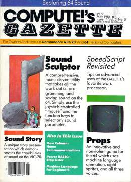 Compute Gazette - Issue 11 - May 1984 - Sound Sculptor - SpeedScript - Props - Commodore VIC-20 64