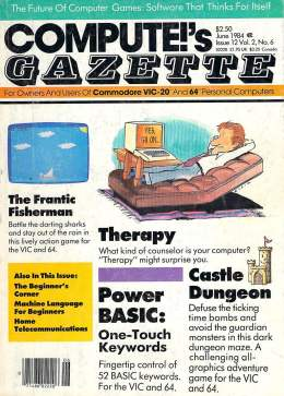 Compute Gazette - Issue 12 - June 1984 - Therapy -  Power BASIC - Commodore VIC-20 64