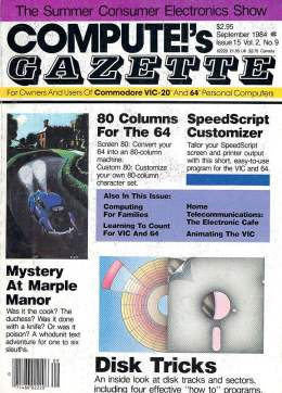 Compute Gazette - Issue 15 - September 1984 - 80 Column 64 - SpeedScript - Commodore VIC-20 64