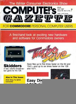 Compute Gazette - Issue 46 - April 1987 - - Commodore VIC-20 64 128 Amiga