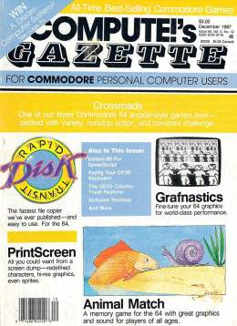 Compute Gazette - Issue 54 - December1987 - PrintScreen  - Commodore VIC-20 64 128 Amiga