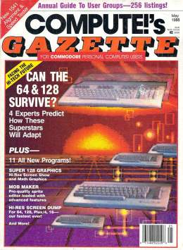 Compute Gazette - Issue 59 - May 1988 - Can the 64 and 128 Survive Commodore VIC-20 64 128 Amiga