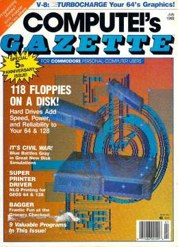 Compute Gazette - Issue 61 - July 1988 - Hard Drives Printers Commodore VIC-20 64 128 Amiga