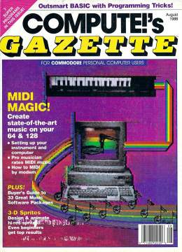 Compute Gazette - Issue 55 - August 1988 - MIDI 3D Sprites Buyers Guide Commodore VIC-20 64 128 Amiga