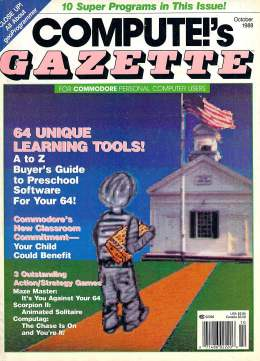 Compute Gazette - Issue 63 - October 1988 - Learning Tools Desktop Publishing Commodore VIC-20 64 128 Amiga
