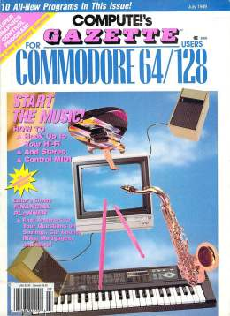 Compute Gazette - Issue 73 - July 1989 - Music  Commodore 64 128