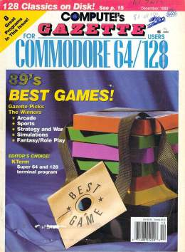 Compute Gazette - Issue 78 - December 1989 - Best Games -  Commodore  64 128